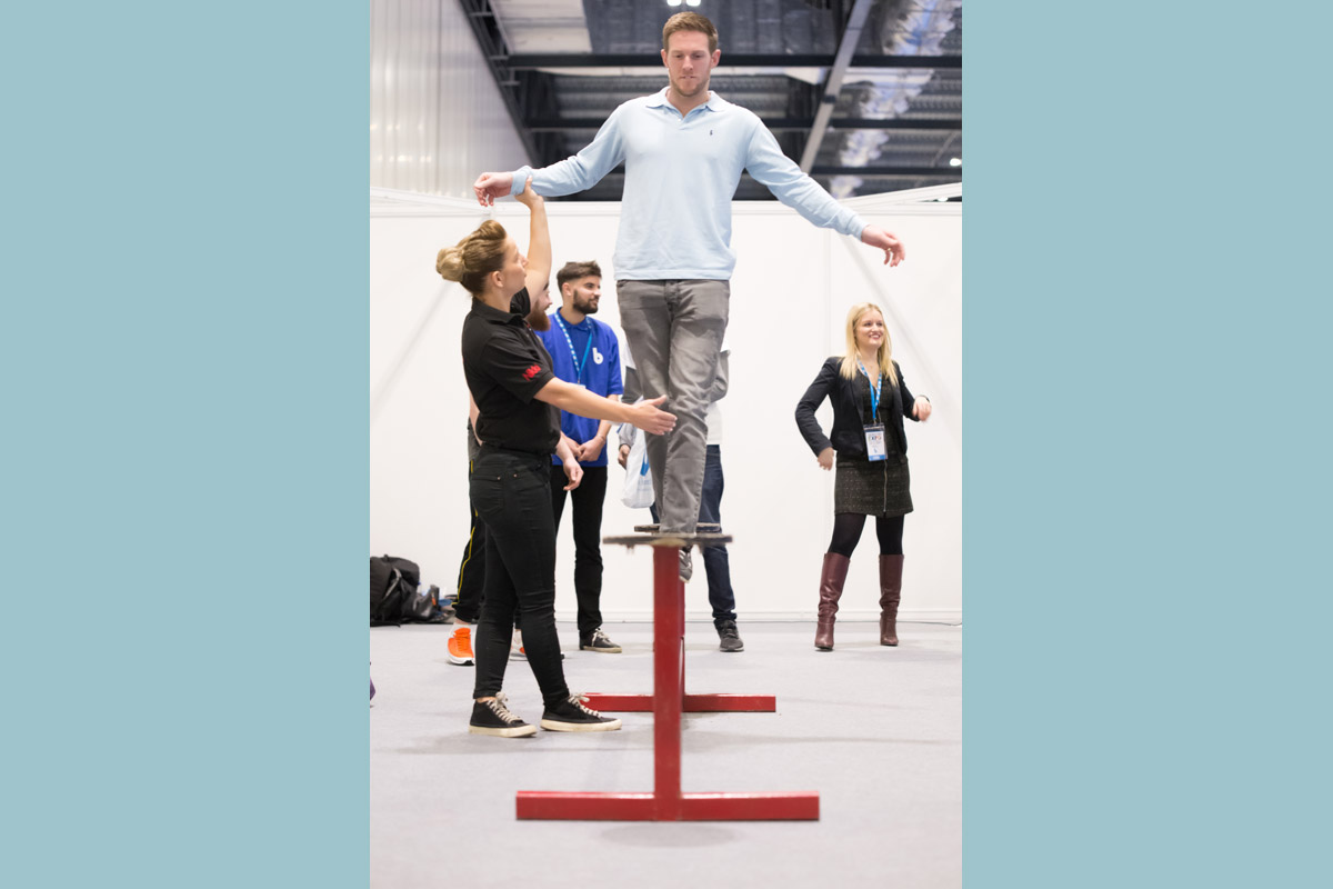 Corporate events and team building circus skills