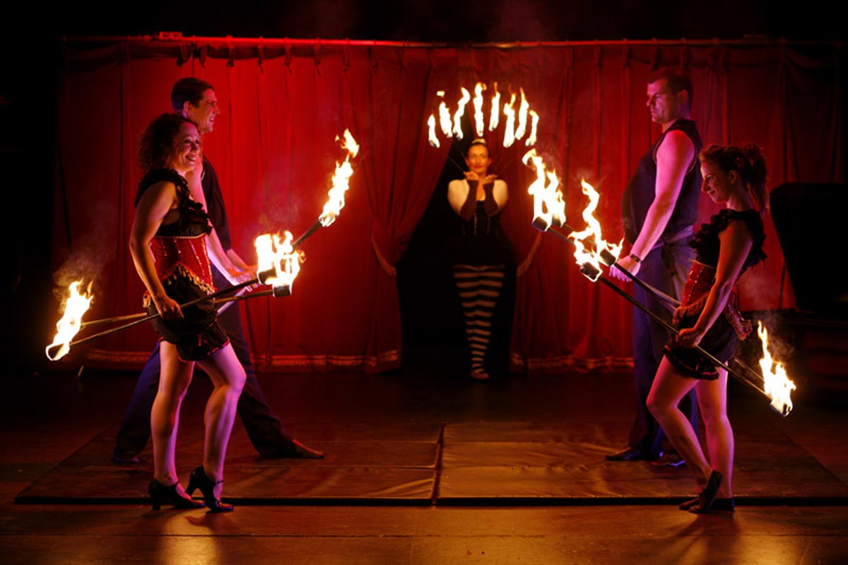 Group fire theatre