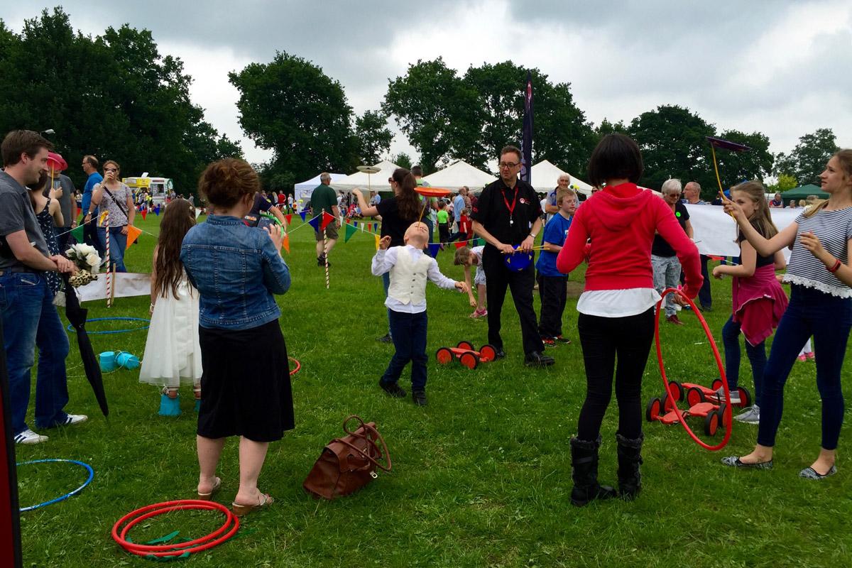 Fetes, fairs and festivals circus skills workshop