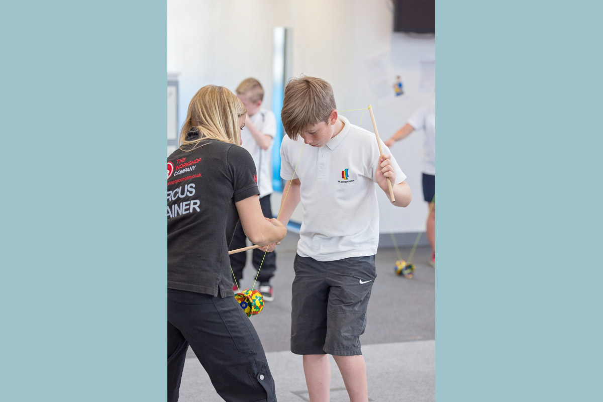 Secondary school circus skills workshop