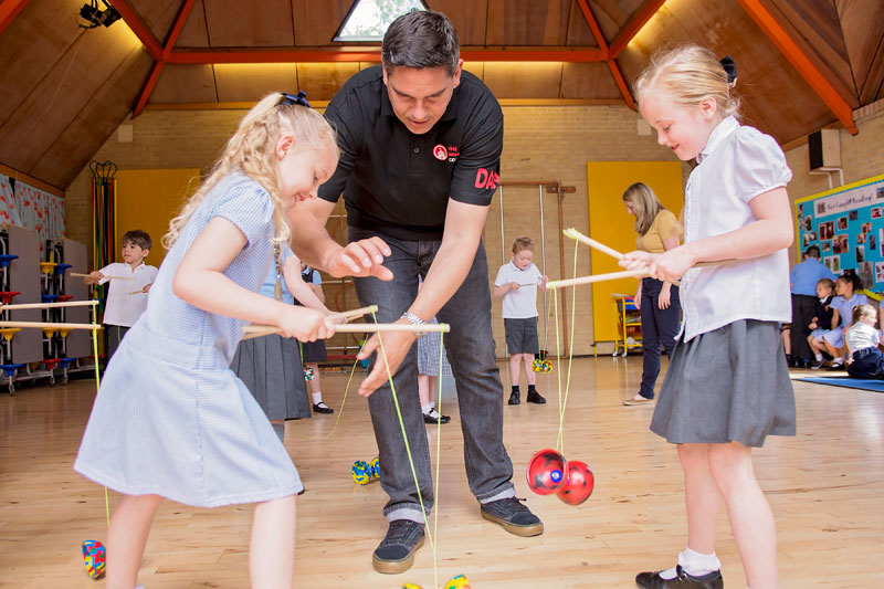 Infant and Primary School circus skills worshop