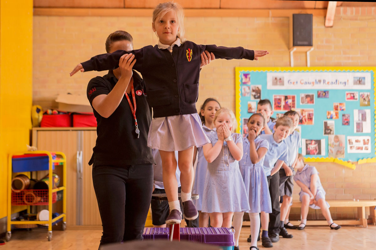 Circus workshops for school children